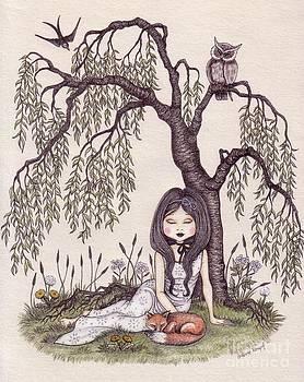 Under the willow tree by Snezana Kragulj