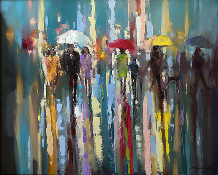Under white umbrella by Ewa Czarniecka