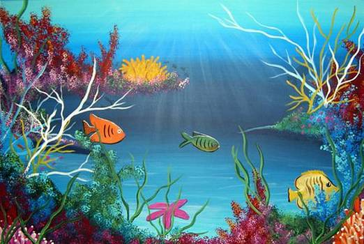 Undersea Color Explosion by Barbie Baughman