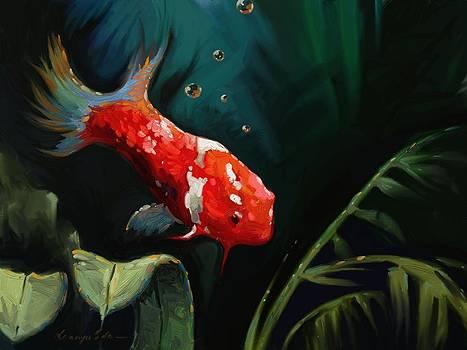 Kanayo Ede - Underwater Koi fish painting