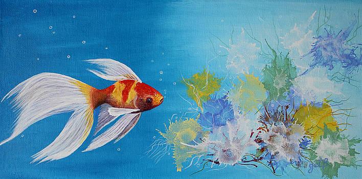 Undewater Beauty original acrylic painting by Georgeta  Blanaru