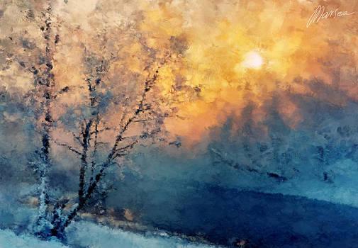 Unfrozen river by Marina Likholat
