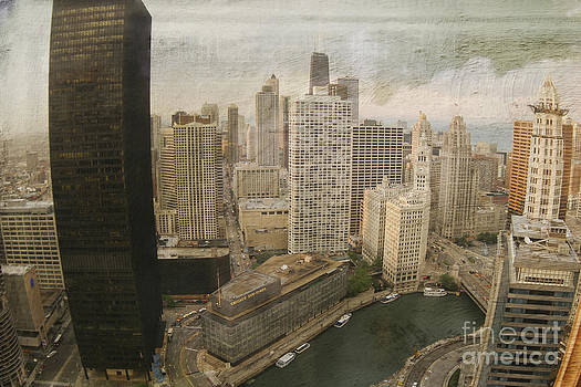 Vintage Unique Downtown Chicago view Digital Art by Linda Matlow