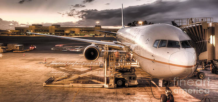 United Airlines Jet Ready For Departure by Dustin K Ryan