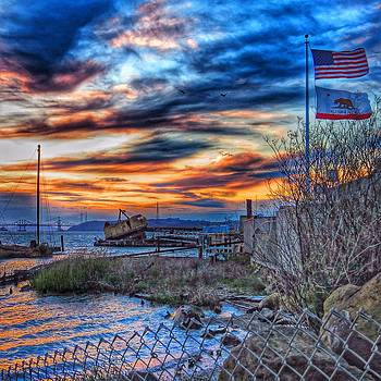 United States Flag at Sunset by Brian Maloney