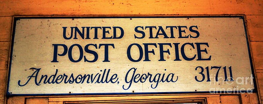 United States Post Office Andersonville Georgia sign above the door entrance by Kim Pate