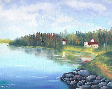 Untitled Landscape Oil Painting by Mark Webster