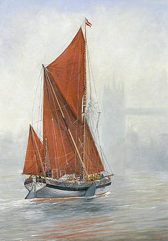 Untitled Sailing Barge 2 by Eric Bellis