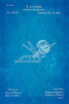 Ian Monk - Upjohn Dissolvable Pill Patent Art 1885 Blueprint