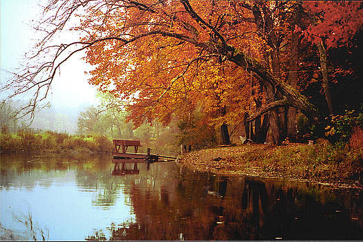 Upper Charles River in Autumn by Roger Soule
