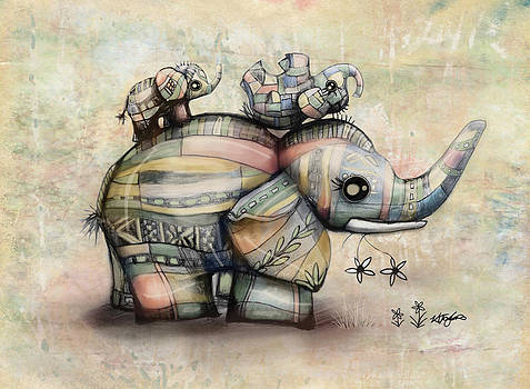 Upside Down Elephants by Karin Taylor