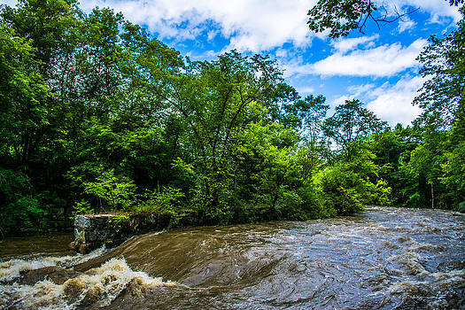 Upstream Green and Blue by Jason Brow