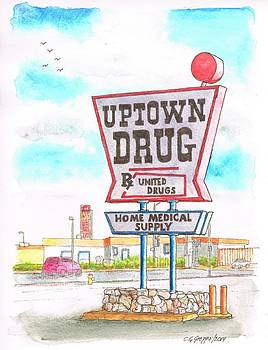 Uptown Drug sing in Route 66, Andy Devine Ave., Kingman, Arizona by Carlos G Groppa