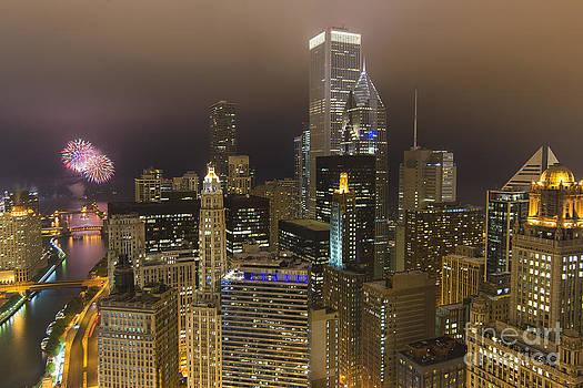 Urban Fireworks Chicago by Jeff Lewis