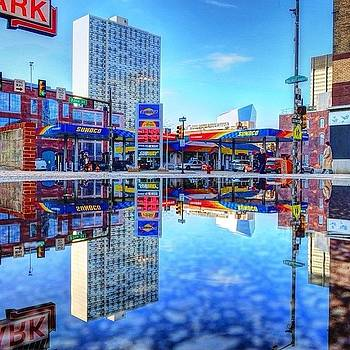 Urban Crazy Quilt Reflection In by Stacey Lewis