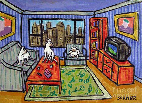 Urban Siamese Cats by Jay  Schmetz