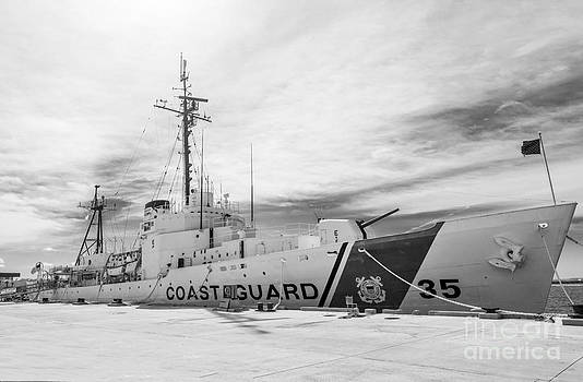 Ian Monk - US Coast Guard Cutter Ingham WHEC-35 - Key West - Florida - Black and White