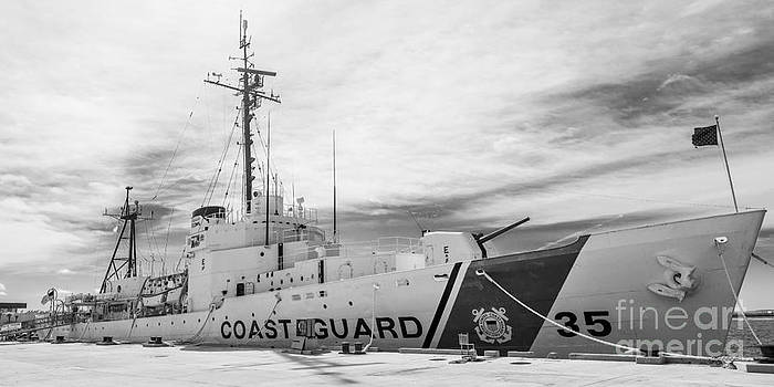 Ian Monk - US Coast Guard Cutter Ingham WHEC-35 - Key West - Florida - Panoramic - Black and White