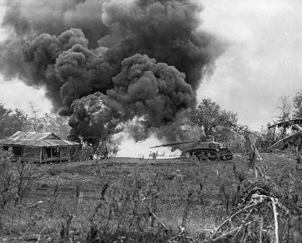 U.s. Marine Flame-throwing Tank Attacks by Everett