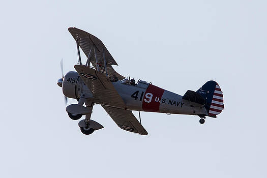 U.S. Navy Biplane by John Ferrante
