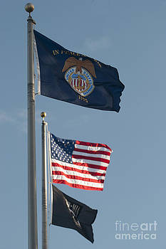 USMM USA and POW Flags by Lauren Brice