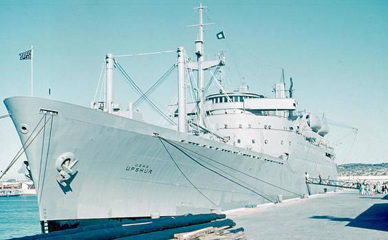 USNS Upshur Rota Spain 1961 by Cumberland Warden