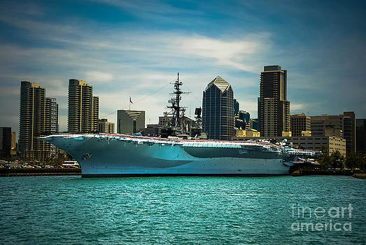 USS MIDWAY MUSEUM CV 41 Aircraft carrier by Claudia Ellis