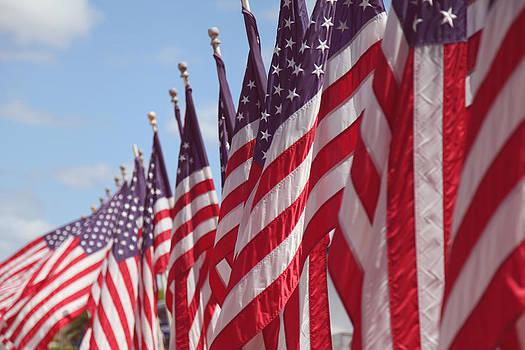 USS Missouri Memorial Flags by Lori Peterson