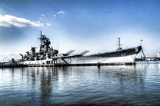 Uss New Jersey by Al Perry