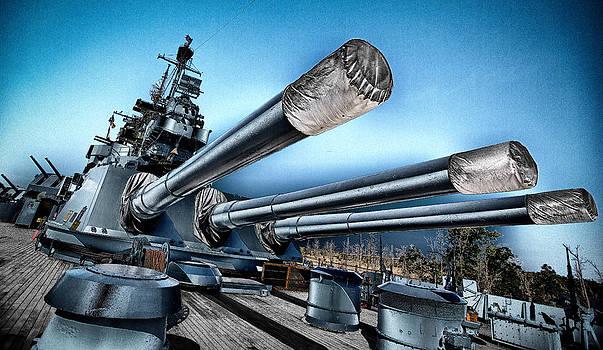 USS North Carolina Battleship by Craig Bowman