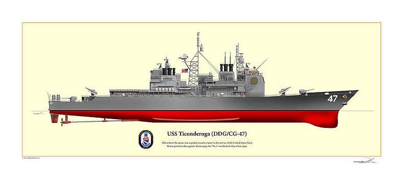 USS Ticonderoga by Ted Kneblewski