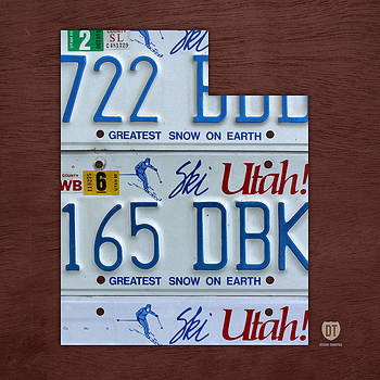 Design Turnpike - Utah State License Plate Map