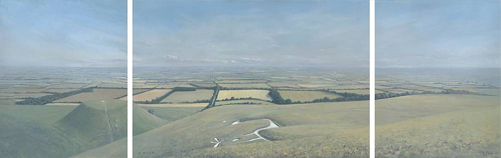 Vale of White Horse    Triptych by Richard Picton