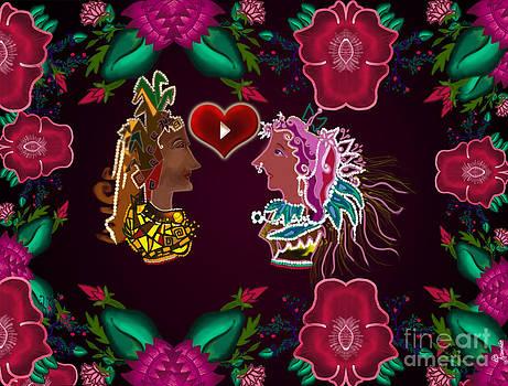 Valentine by Artist Nandika  Dutt