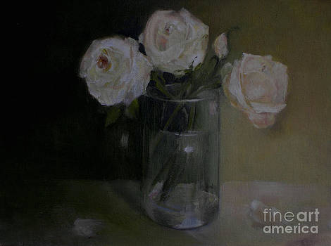 Valentine Blush Roses                    copyrighted by Kathleen Hoekstra