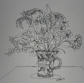 Valentine Flowers by Janet Butler