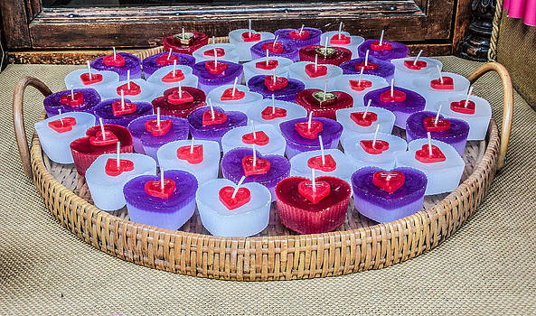 Valentine heart candles by Georgina Noronha