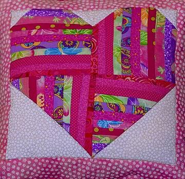 Valentine Pillow by Larry Bodinson