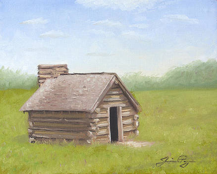 Valley Forge Cabin in Spring by Jamie Pogue