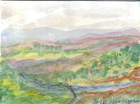Valley in France by Debbie Wassmann