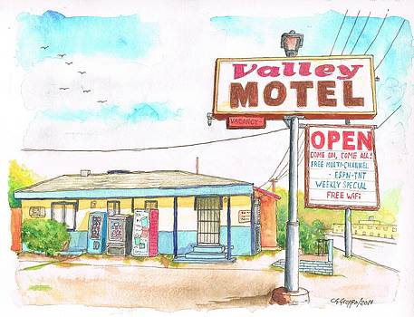 Valley Motel in San Bernardino Route 66 - California by Carlos G Groppa