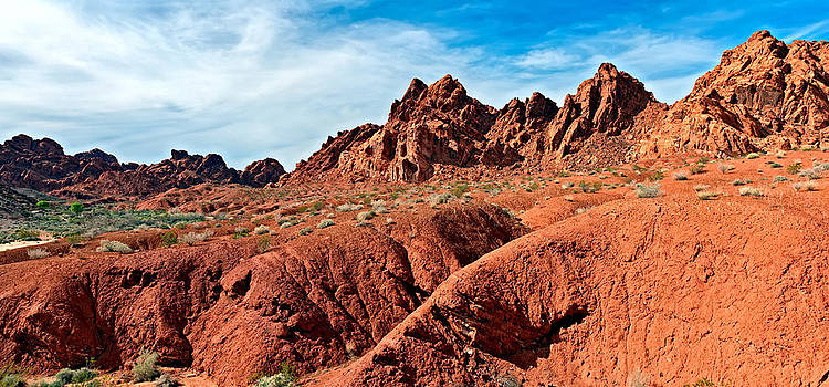 Valley of Fire Pano by Tomasz Dziubinski
