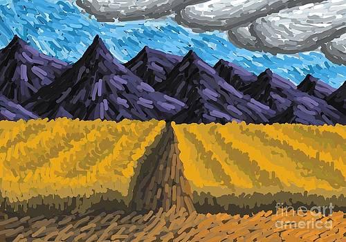 Van Gogh Mountain Fields by Mark Teeter