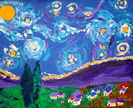Van Gogh Starry Night  by Ethan Altshuler