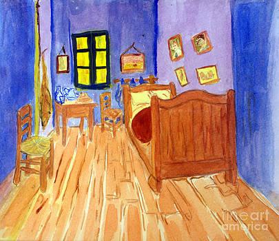 Donna Walsh - van Goghs Bedroom on Arles in Watercolor