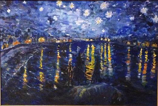 Van Gogh's Starry Night Over the Rhone River by Susan Hanning