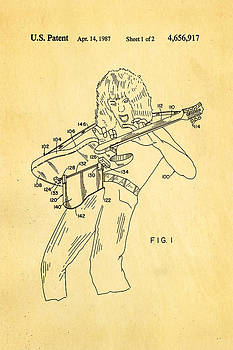 Ian Monk - Van Halen Instrument Support Patent Art 1987