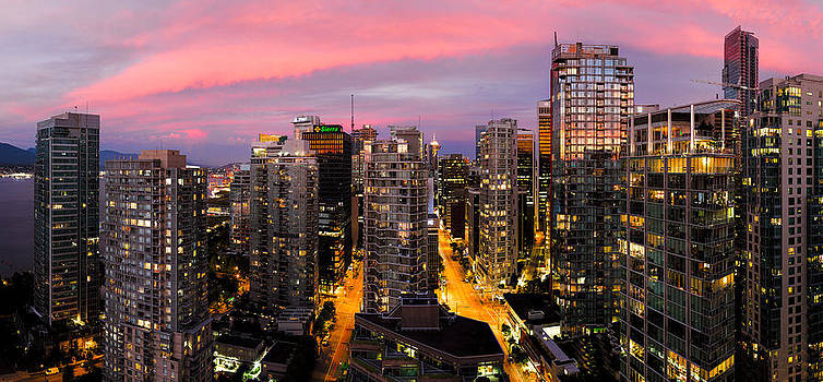 Vancouver Rooftop Sunset by Alexis Birkill