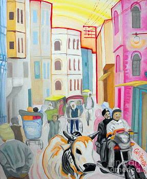 Varanasi Cow by Caroline Cunningham