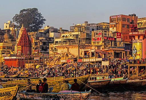 Varanasi Sunrise by Diane Geddes